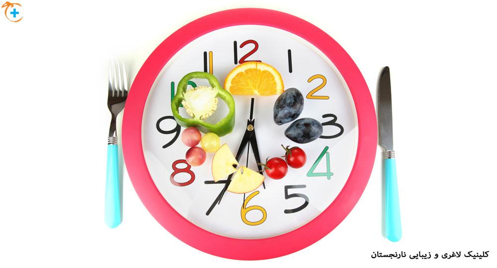 زمان غذا خوردن