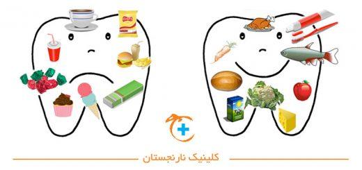 مواد غذایی مناسب و مضر دندان
